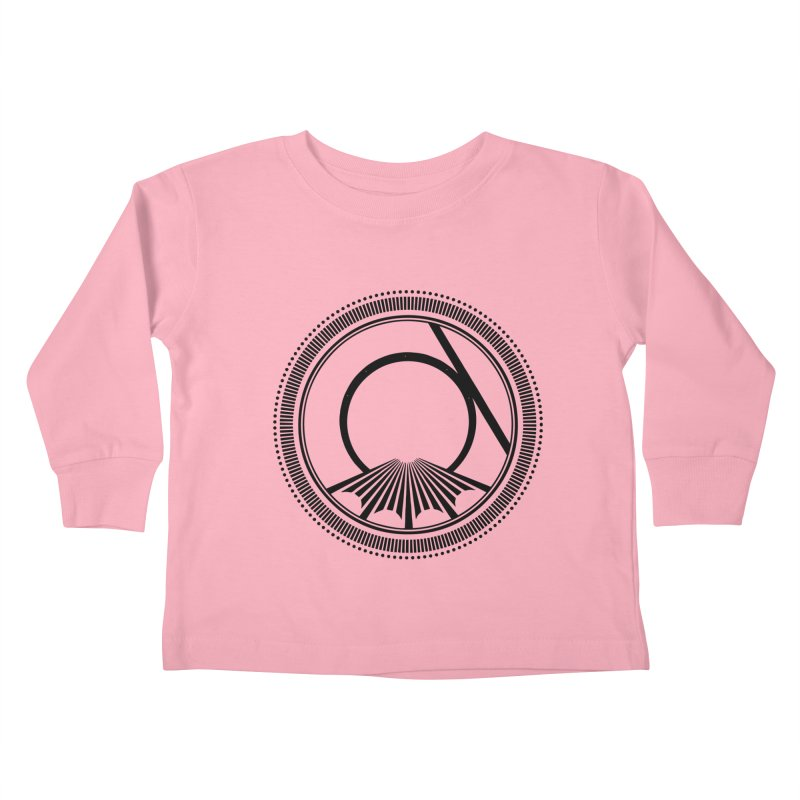 Tangent Logo (black ink) Kids Toddler Longsleeve T-Shirt by Interdimensional Transmissions