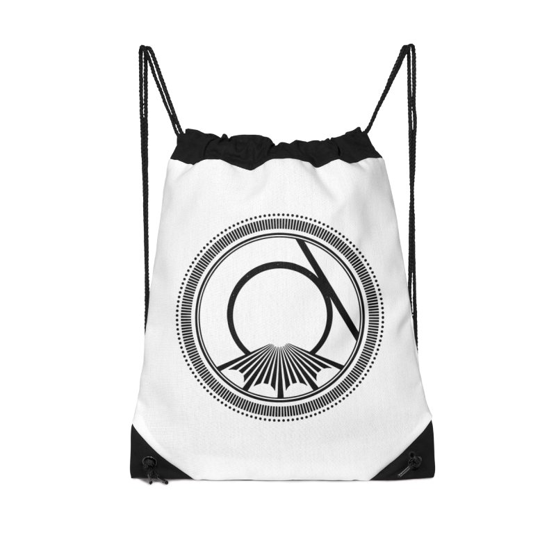 Tangent Logo (black ink) Accessories Bag by Interdimensional Transmissions