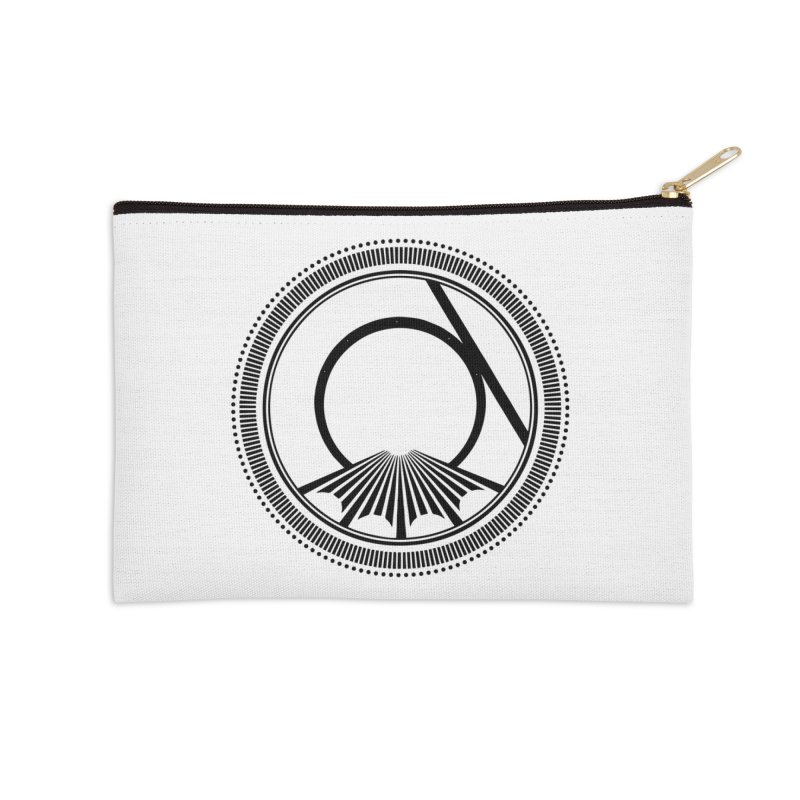 Tangent Logo (black ink) Accessories Zip Pouch by Interdimensional Transmissions