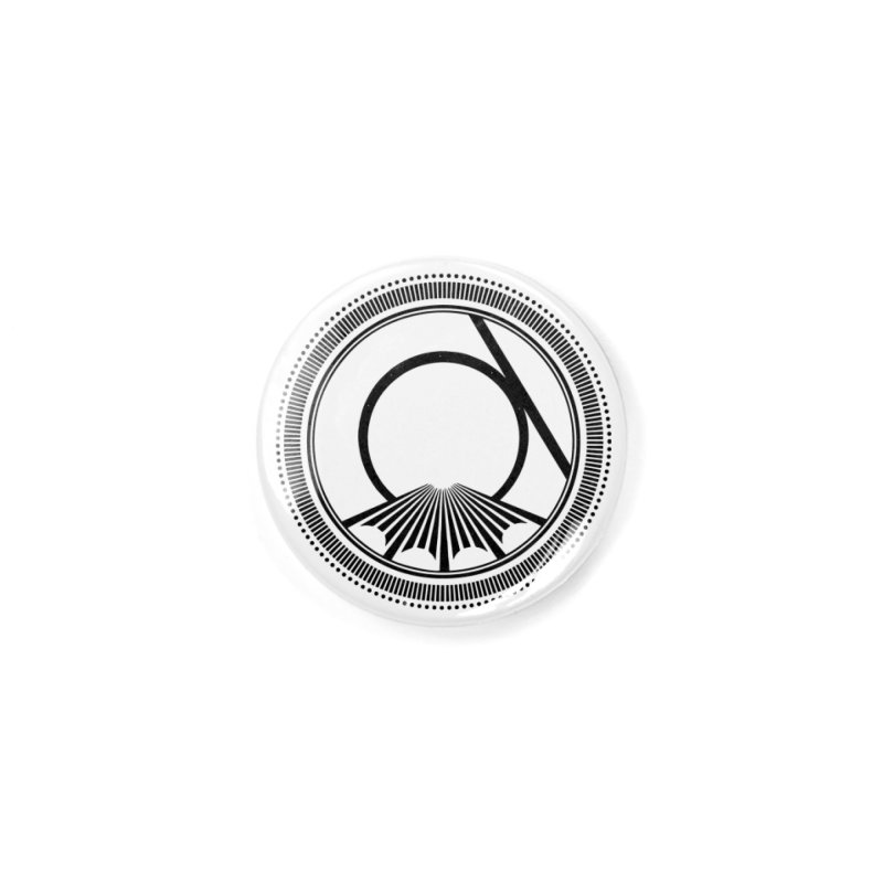 Tangent Logo (black ink) Accessories Button by Interdimensional Transmissions