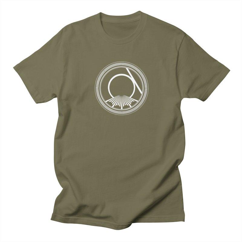 Tangent Logo (white ink) Men's T-Shirt by Interdimensional Transmissions