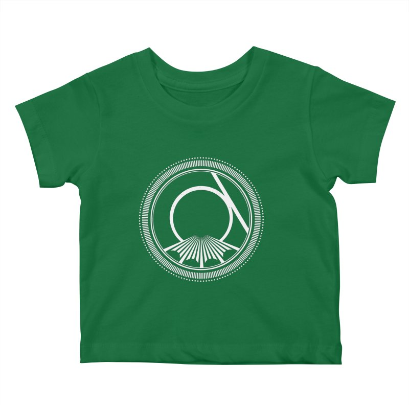 Tangent Logo (white ink) Kids Baby T-Shirt by Interdimensional Transmissions