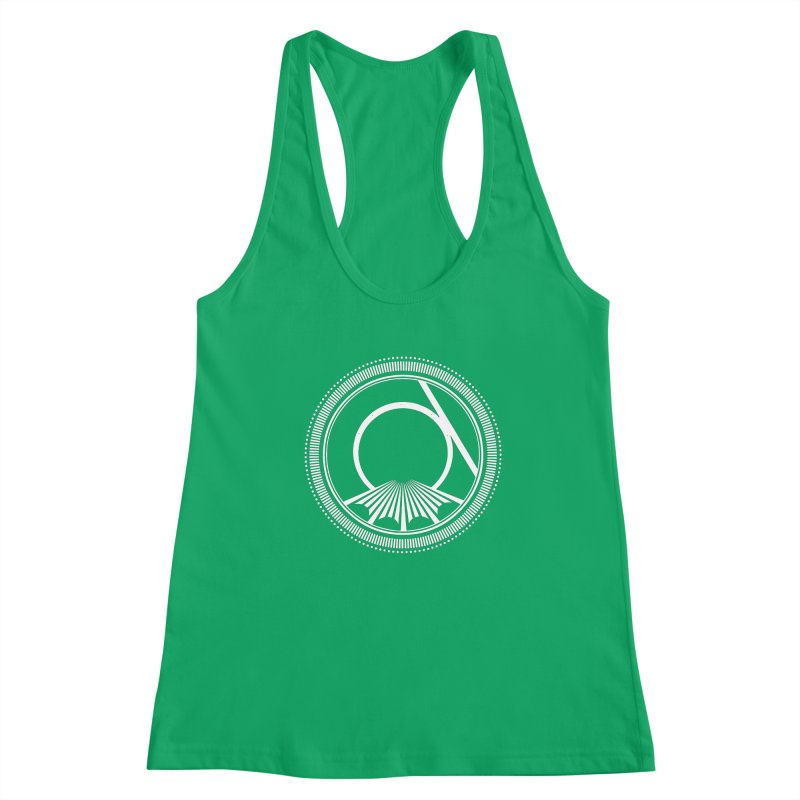 Tangent Logo (white ink) Women's Tank by Interdimensional Transmissions