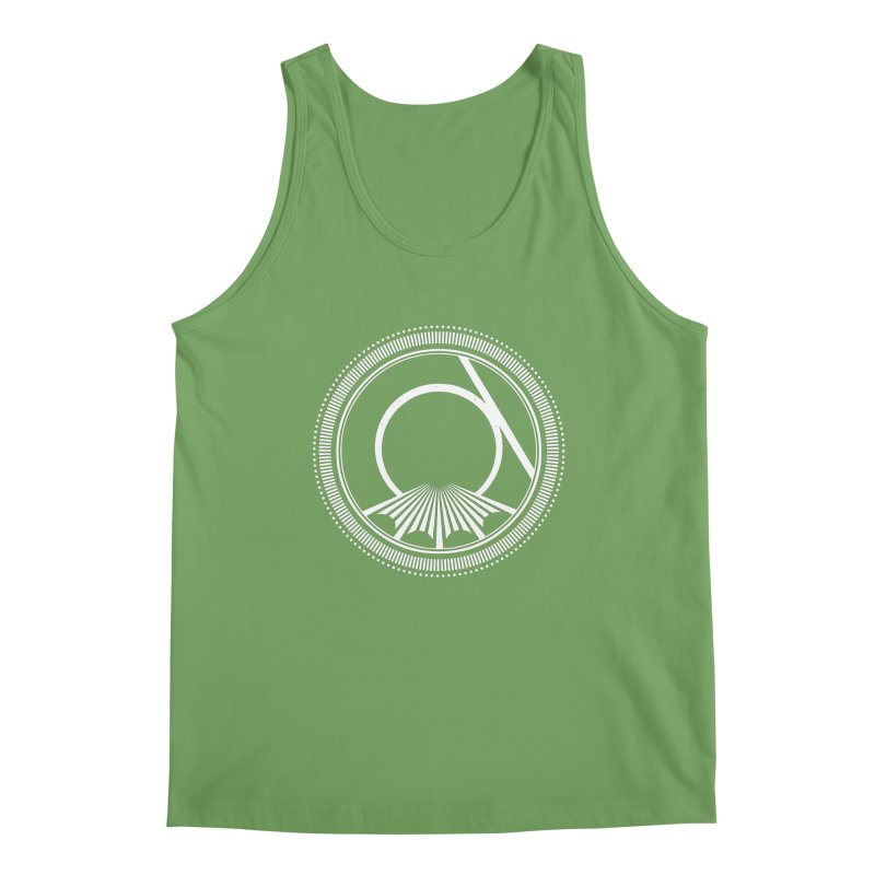 Tangent Logo (white ink) Men's Tank by Interdimensional Transmissions