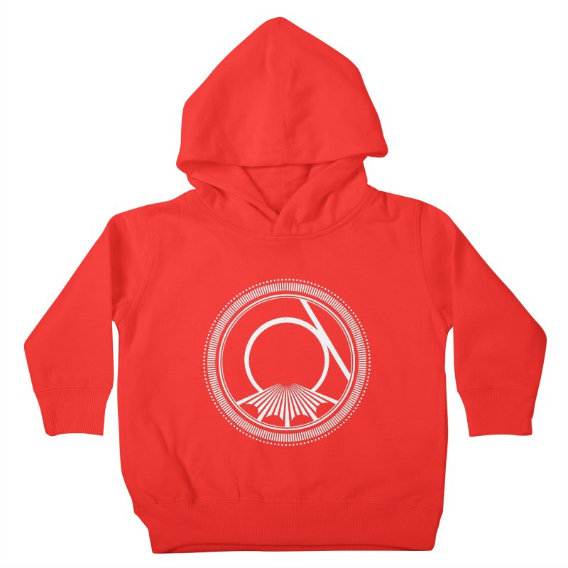 Tangent Logo (white ink) Kids Toddler Pullover Hoody by Interdimensional Transmissions