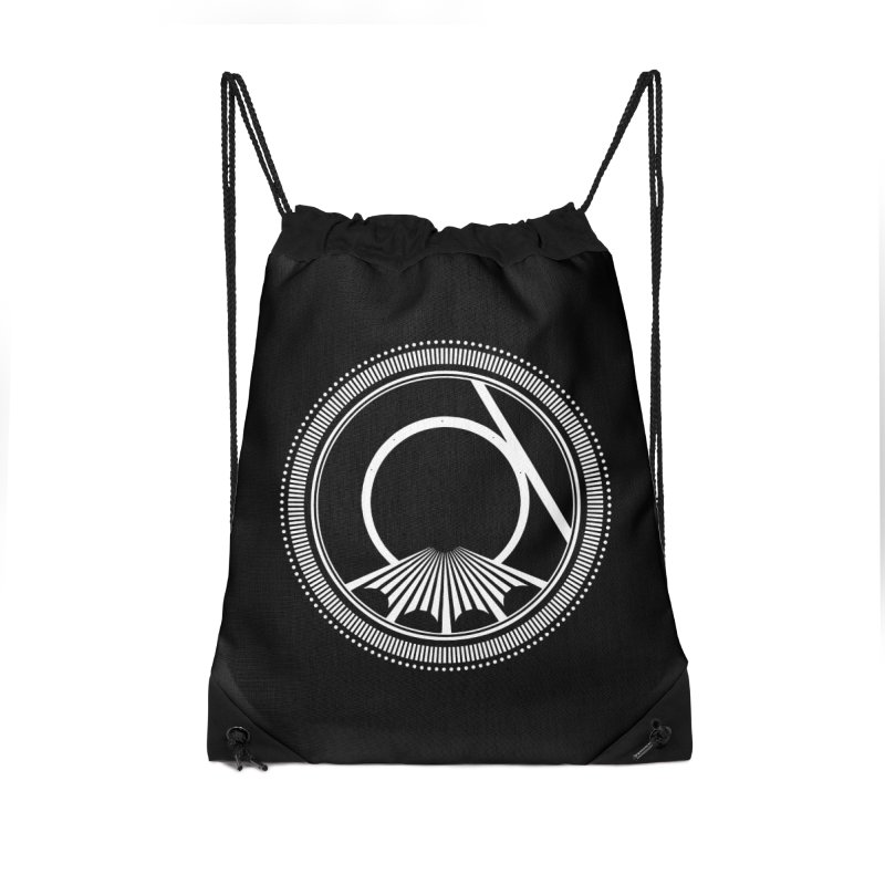 Tangent Logo (white ink) Accessories Bag by Interdimensional Transmissions