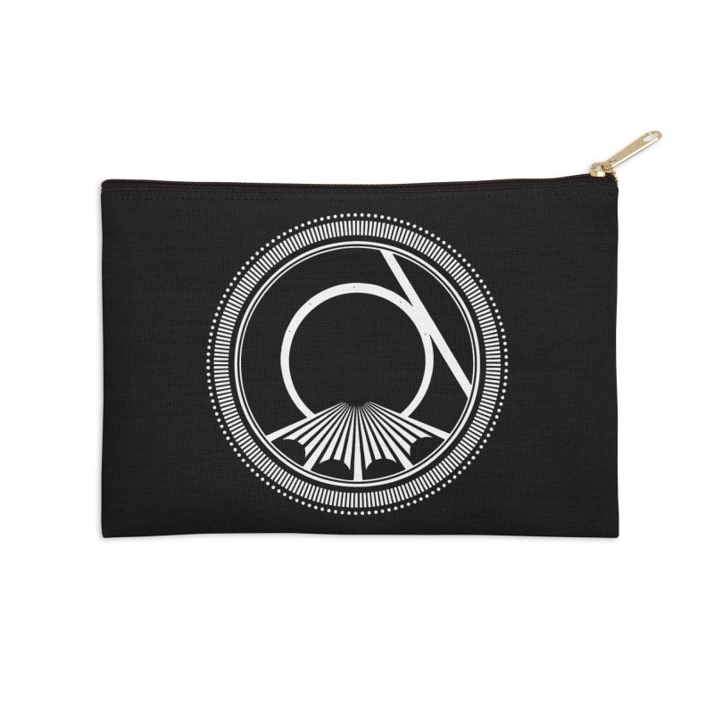 Tangent Logo (white ink) Accessories Zip Pouch by Interdimensional Transmissions