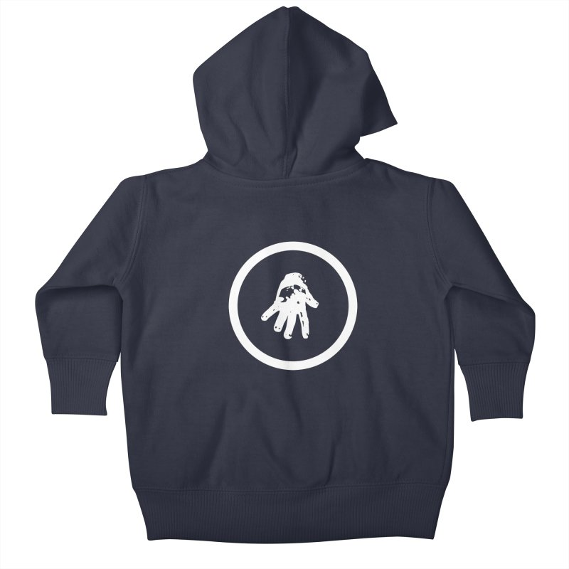IT Logo (white ink) Kids Baby Zip-Up Hoody by Interdimensional Transmissions