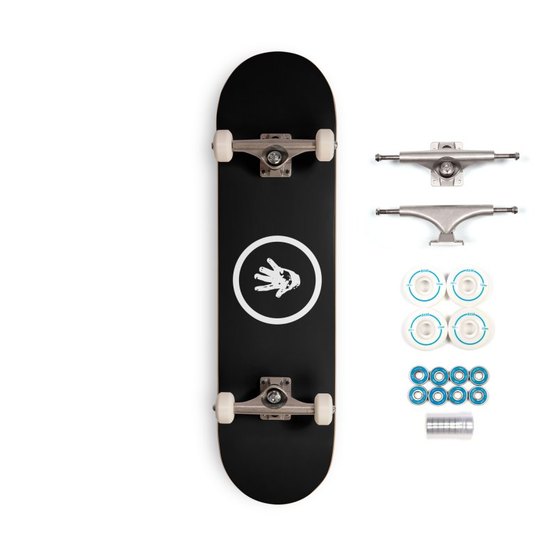 IT Logo (white ink) Accessories Skateboard by Interdimensional Transmissions
