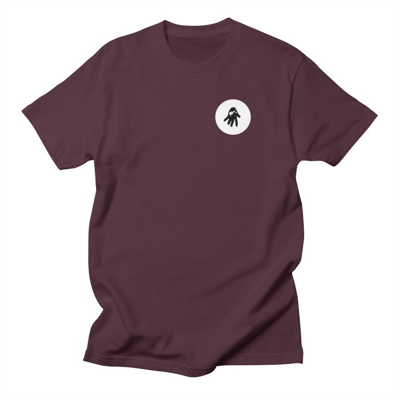 IT Polo (white ink) Men's T-Shirt by Interdimensional Transmissions