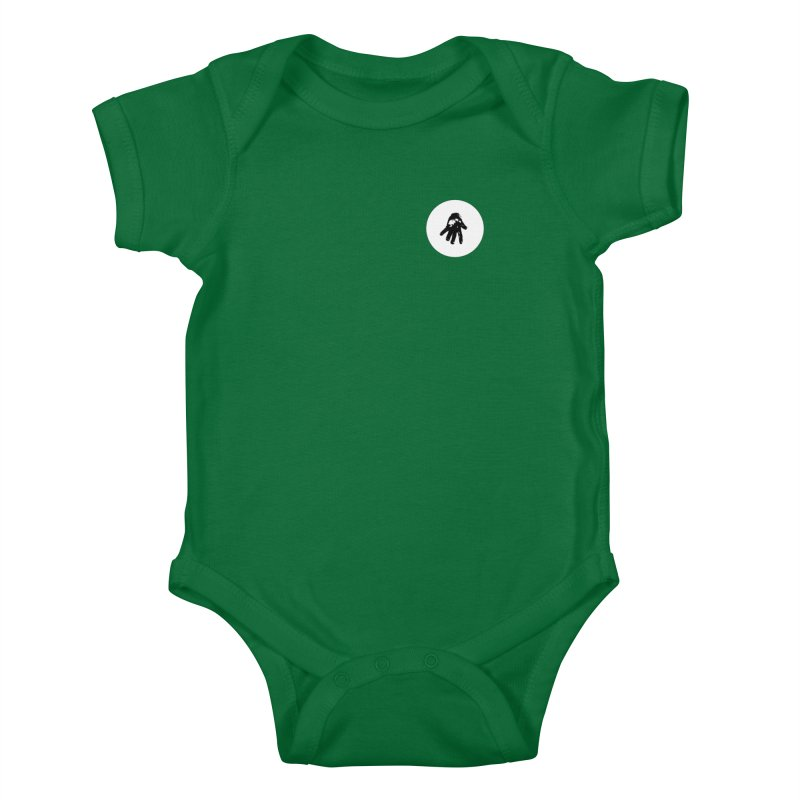 IT Polo (white ink) Kids Baby Bodysuit by Interdimensional Transmissions