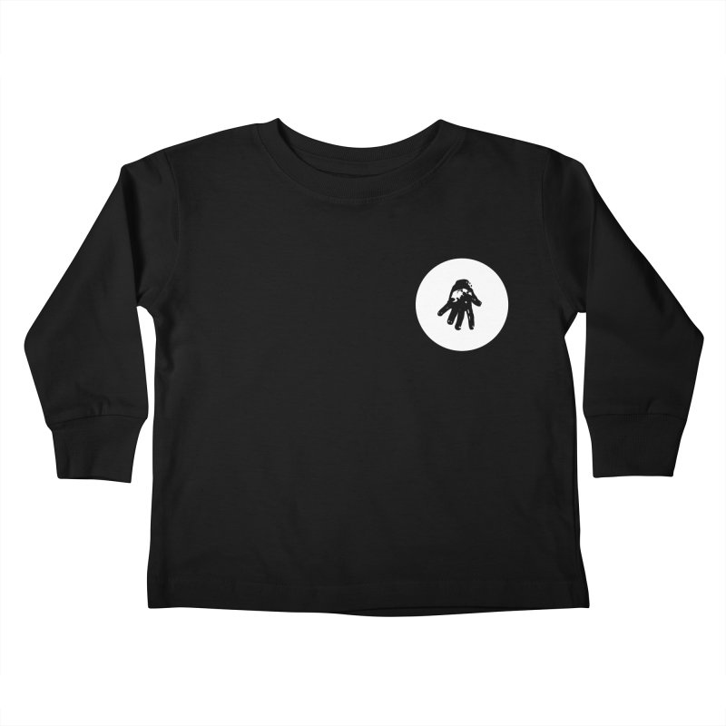 IT Polo (white ink) Kids Toddler Longsleeve T-Shirt by Interdimensional Transmissions