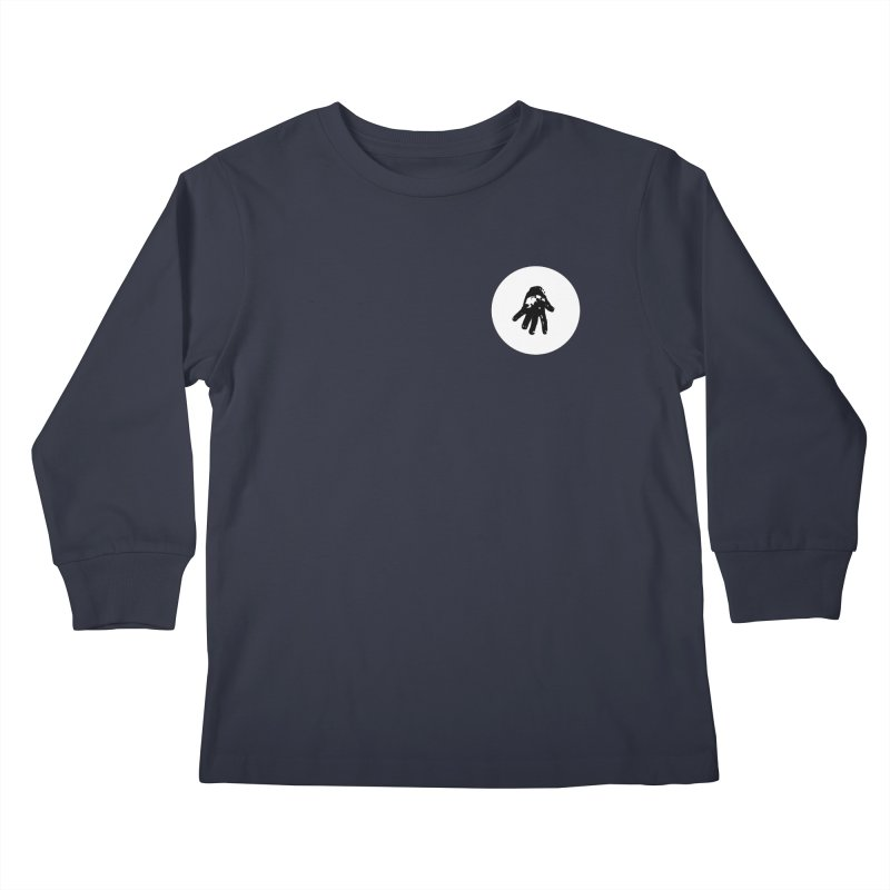 IT Polo (white ink) Kids Longsleeve T-Shirt by Interdimensional Transmissions