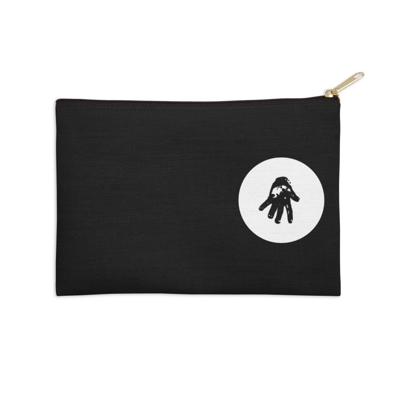 IT Polo (white ink) Accessories Zip Pouch by Interdimensional Transmissions