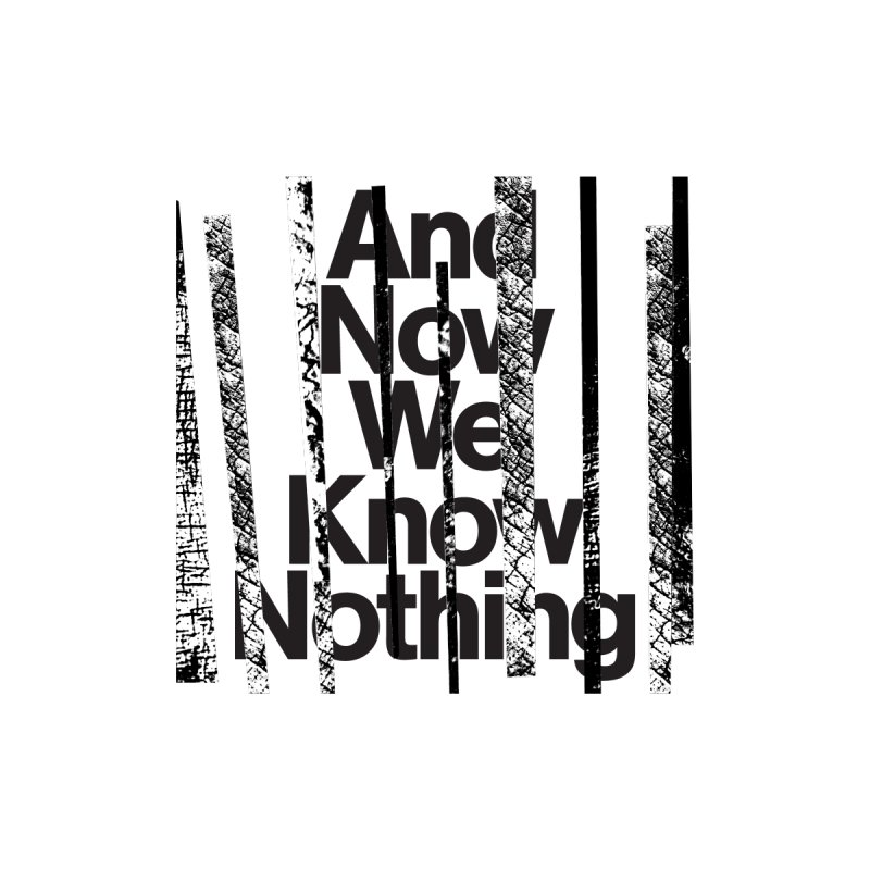 "Israel Vines ""And Now We Know Nothing"" Black Ink Men's Sweatshirt by Interdimensional Transmissions"