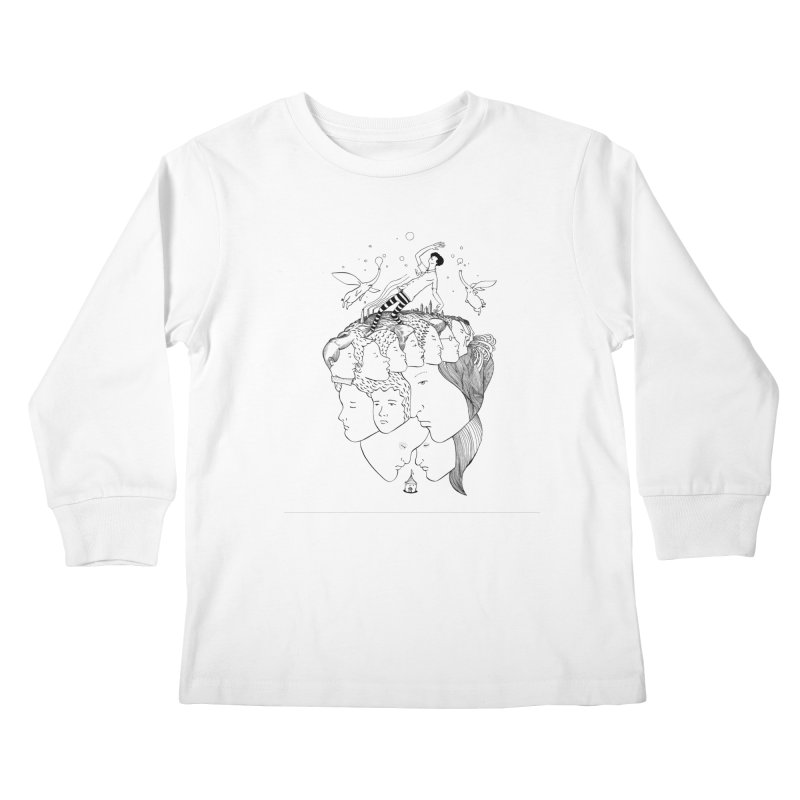 Came So Far From Home Kids Longsleeve T-Shirt by itoshige