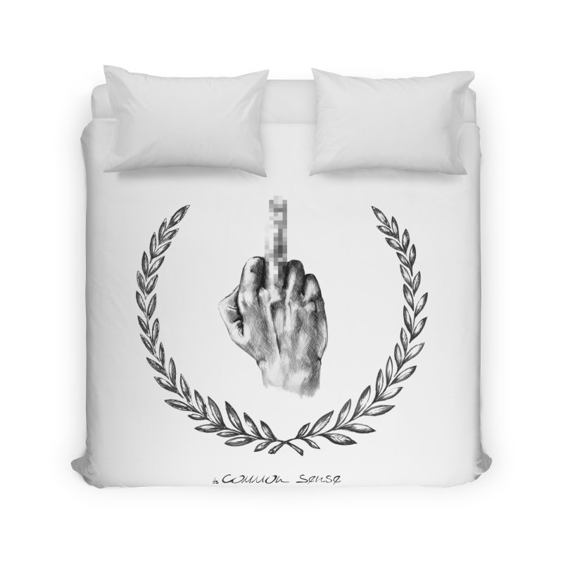 the Finger and the Glory (or Fuck Perry) Home Duvet by it's Common Sense