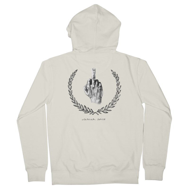 the Finger and the Glory (or Fuck Perry) Men's French Terry Zip-Up Hoody by it's Common Sense
