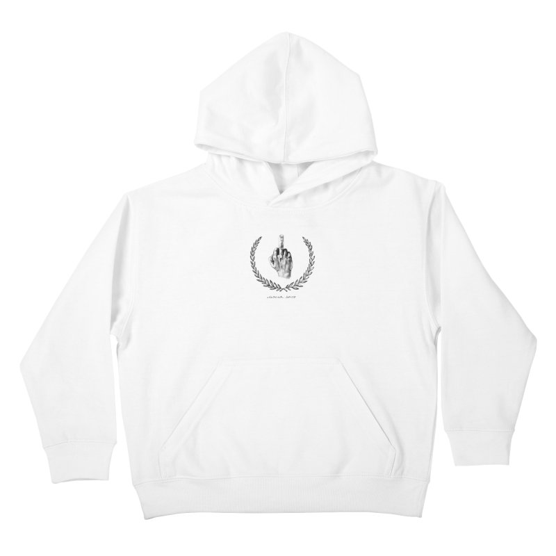 the Finger and the Glory (or Fuck Perry) Kids Pullover Hoody by it's Common Sense