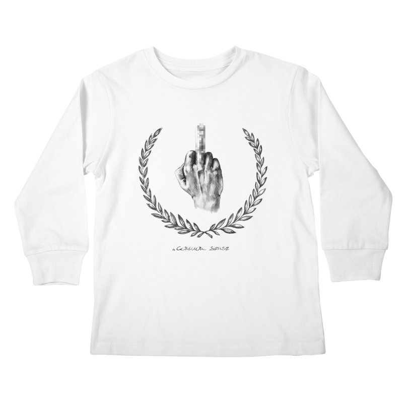 the Finger and the Glory (or Fuck Perry) Kids Longsleeve T-Shirt by it's Common Sense