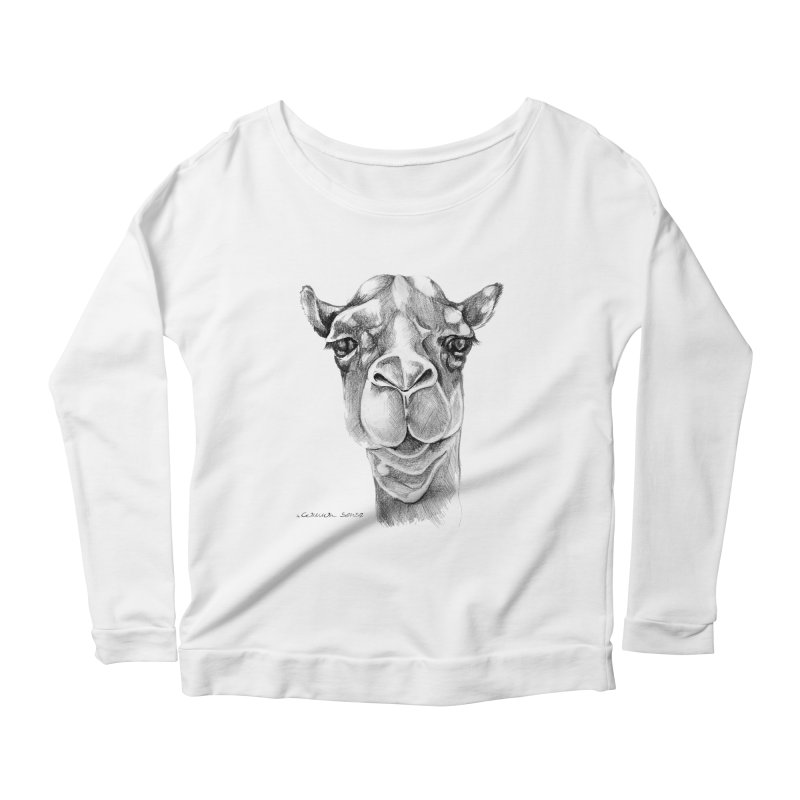 the Camel Women's Scoop Neck Longsleeve T-Shirt by it's Common Sense