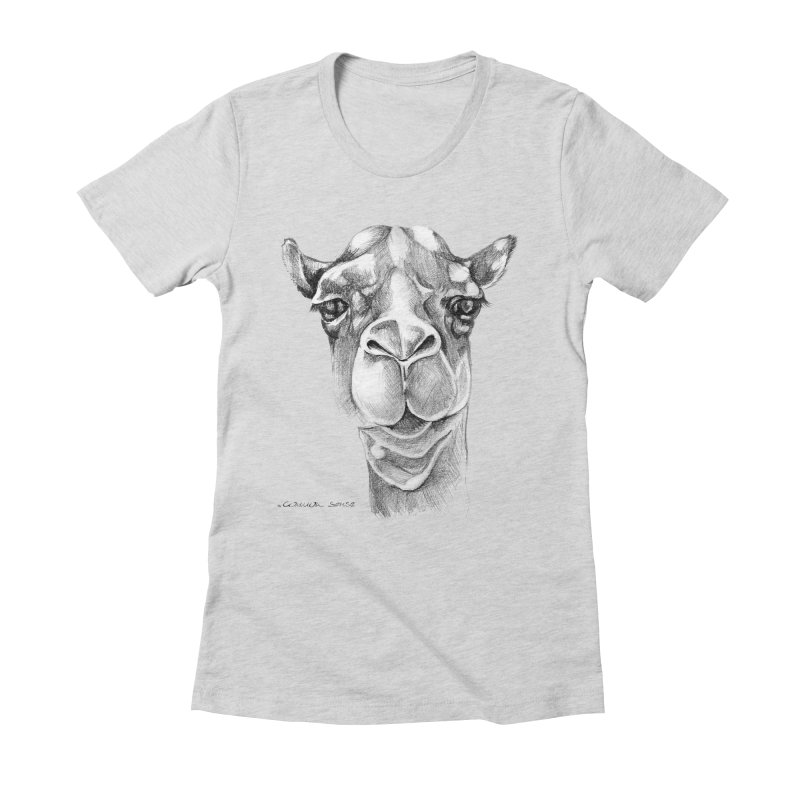the Camel Women's Fitted T-Shirt by it's Common Sense
