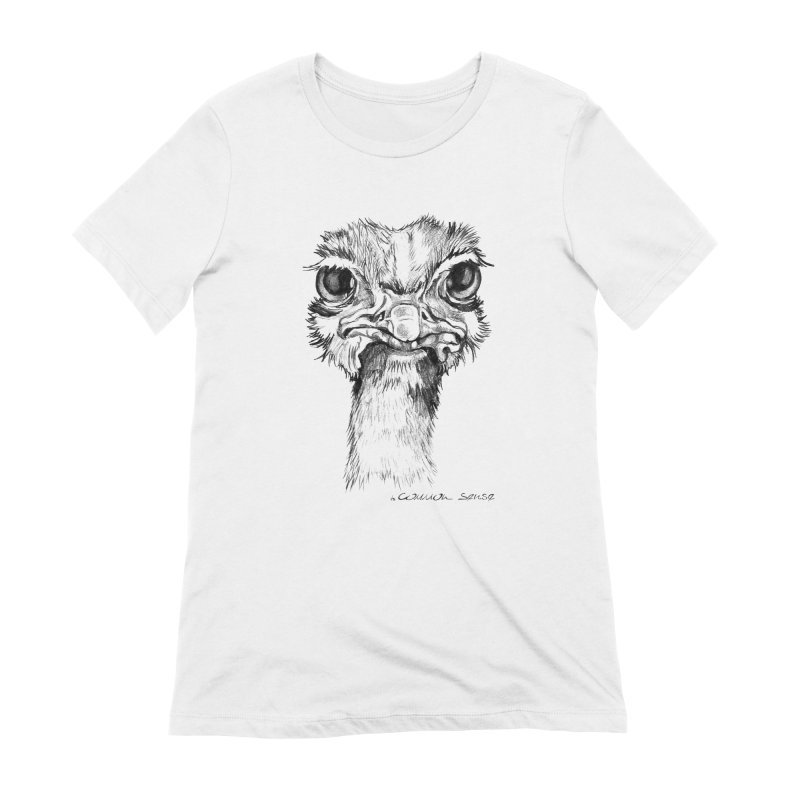 The Common Ostrich Women's Extra Soft T-Shirt by it's Common Sense