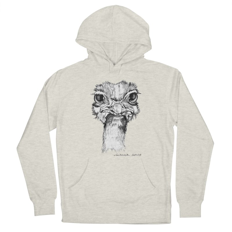The Common Ostrich Women's French Terry Pullover Hoody by it's Common Sense