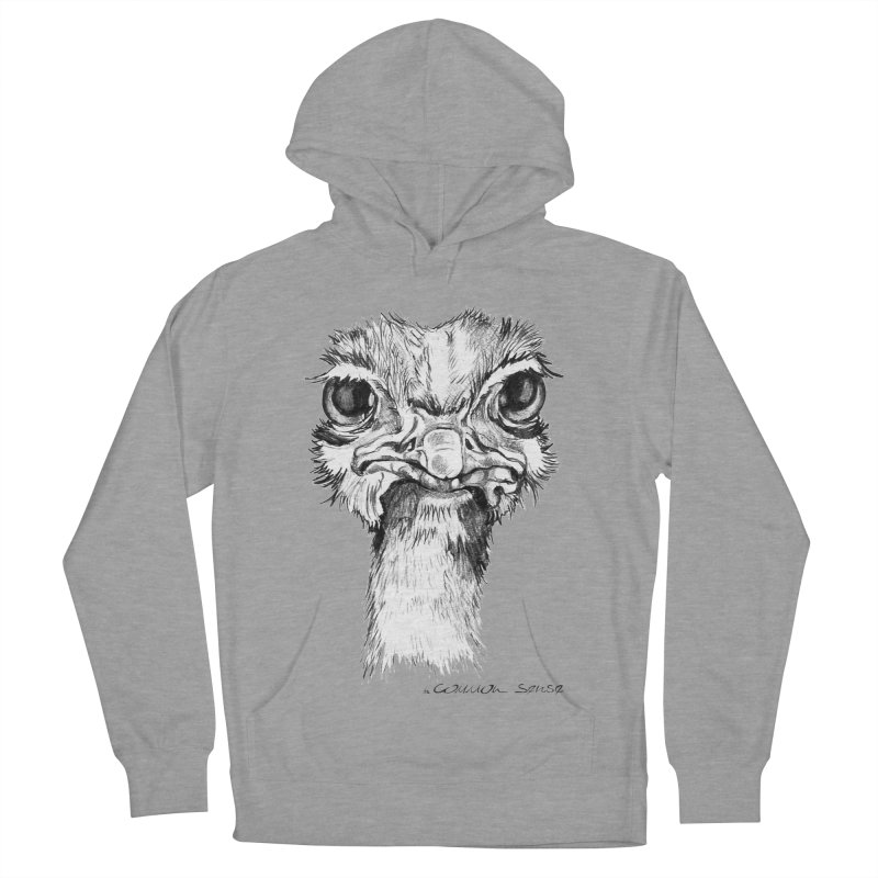 The Common Ostrich Men's French Terry Pullover Hoody by it's Common Sense