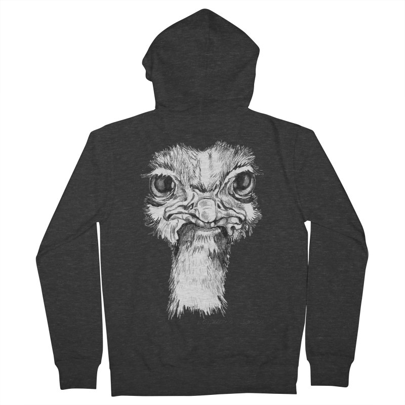 The Common Ostrich Men's French Terry Zip-Up Hoody by it's Common Sense