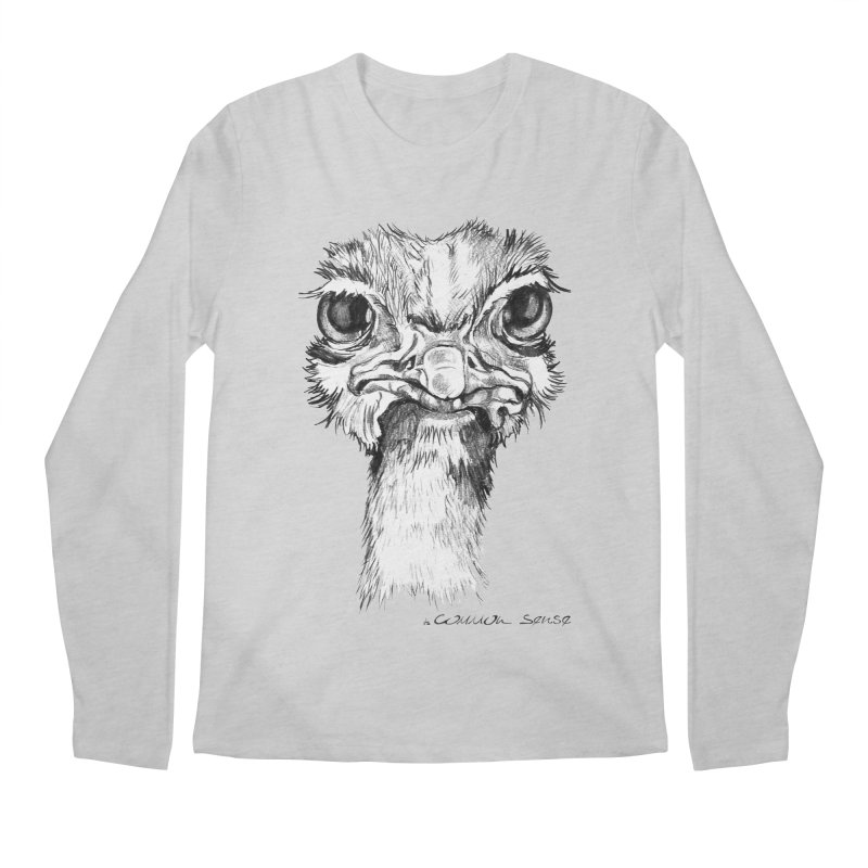 The Common Ostrich Men's Regular Longsleeve T-Shirt by it's Common Sense