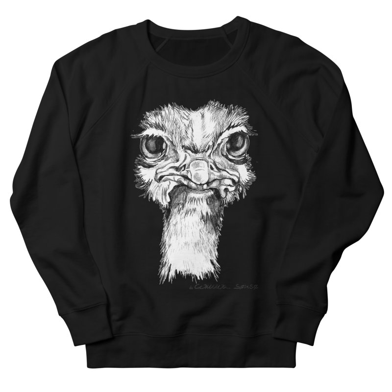 The Common Ostrich Men's French Terry Sweatshirt by it's Common Sense