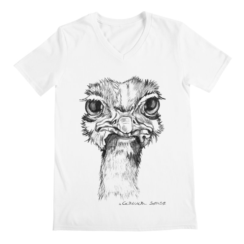 The Common Ostrich Men's V-Neck by it's Common Sense