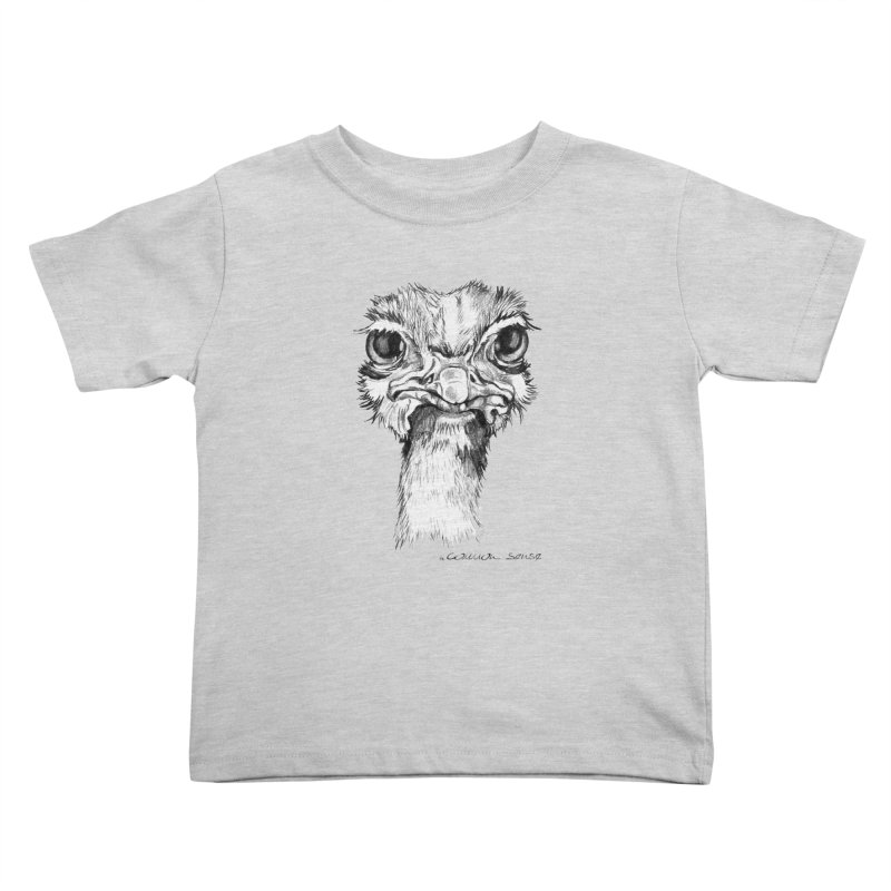 The Common Ostrich Kids Toddler T-Shirt by it's Common Sense