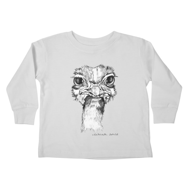 The Common Ostrich Kids Toddler Longsleeve T-Shirt by it's Common Sense