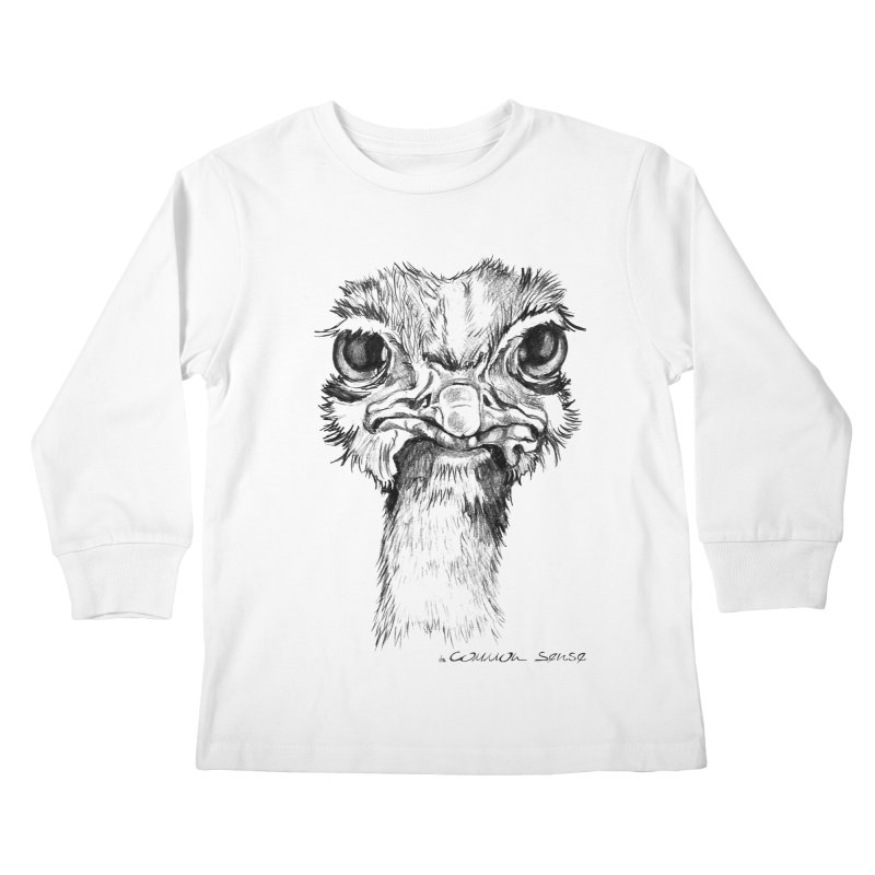 The Common Ostrich Kids Longsleeve T-Shirt by it's Common Sense