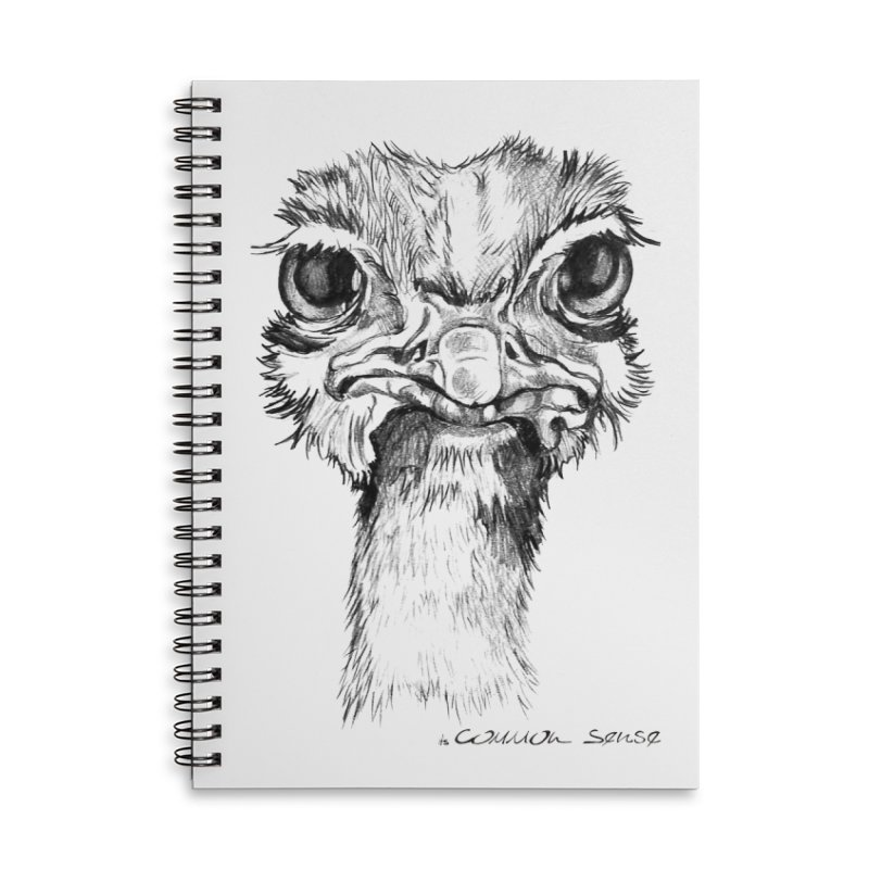 The Common Ostrich Accessories Lined Spiral Notebook by it's Common Sense