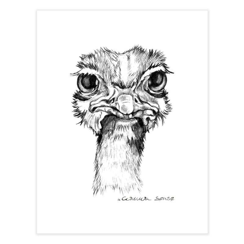 The Common Ostrich Home Fine Art Print by it's Common Sense