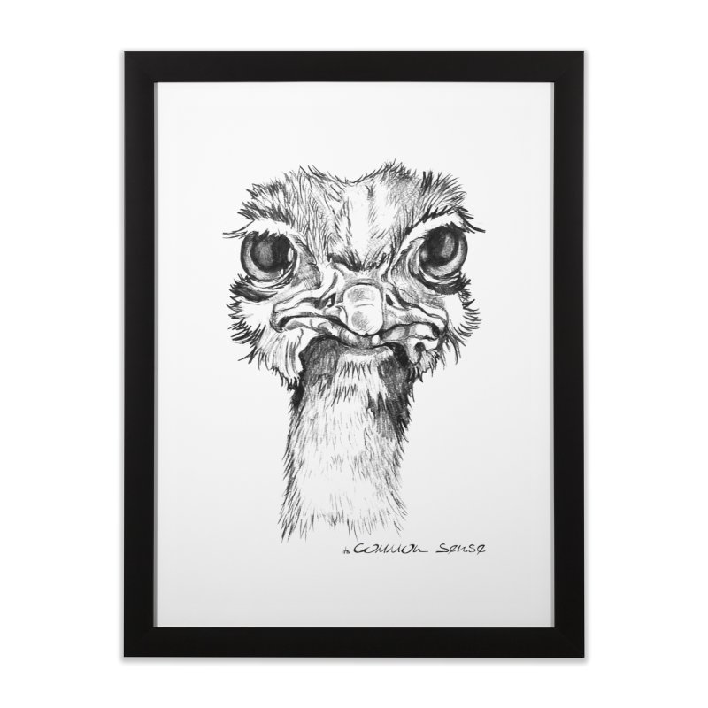 The Common Ostrich Home Framed Fine Art Print by it's Common Sense