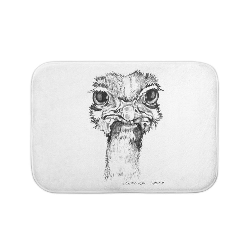 The Common Ostrich Home Bath Mat by it's Common Sense
