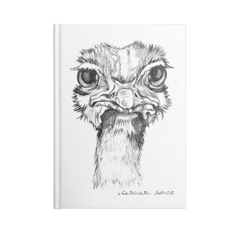 The Common Ostrich Accessories Blank Journal Notebook by it's Common Sense