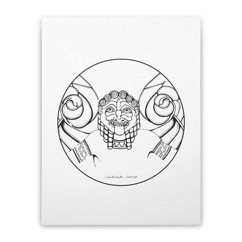 Medusa Home Stretched Canvas by it's Common Sense