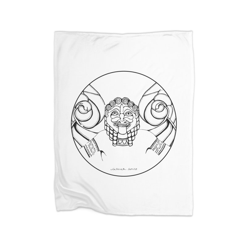 Medusa Home Fleece Blanket Blanket by it's Common Sense