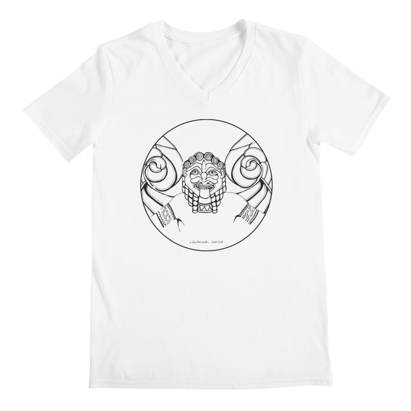 Medusa Men's V-Neck by it's Common Sense