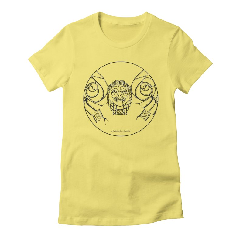 Medusa Women's Fitted T-Shirt by it's Common Sense