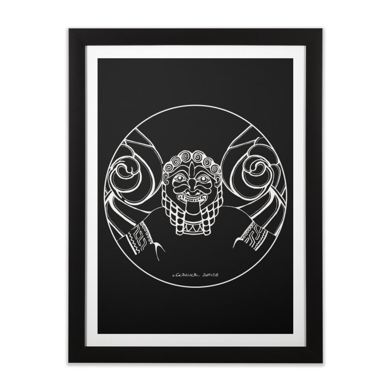 the white Medusa Home Framed Fine Art Print by it's Common Sense