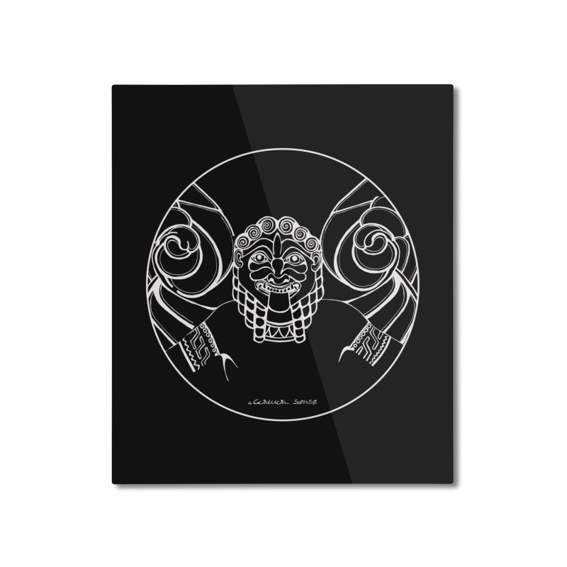 the white Medusa Home Mounted Aluminum Print by it's Common Sense