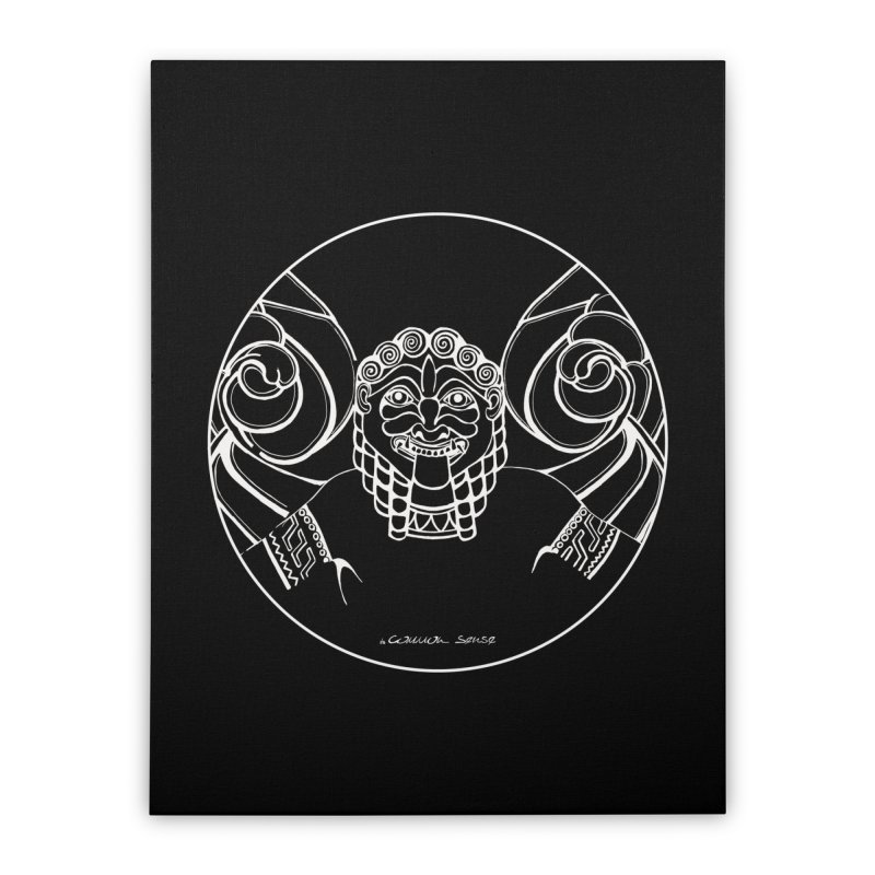 the white Medusa Home Stretched Canvas by it's Common Sense