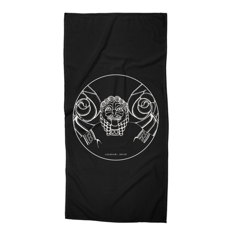 the white Medusa Accessories Beach Towel by it's Common Sense