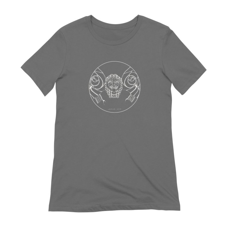 the white Medusa Women's T-Shirt by it's Common Sense